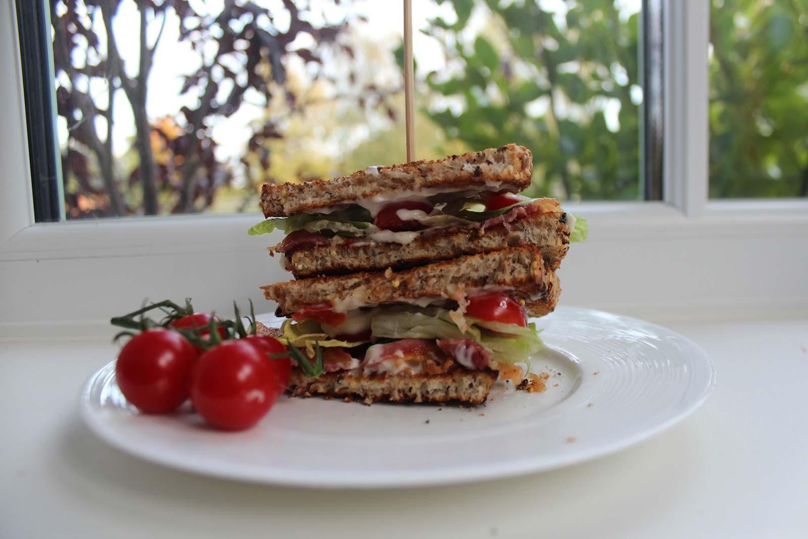 Vogel's Tasty Toast Bacon Club Sandwich