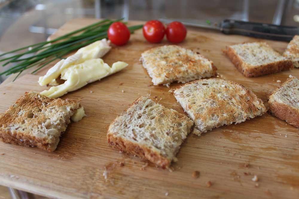 Tasty toast festive appetizers